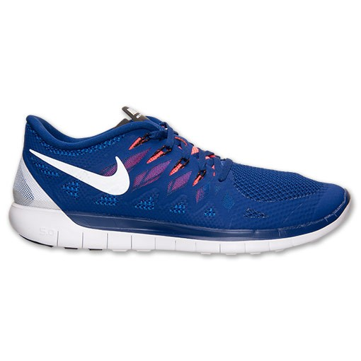 Nike Free 5.0 2014 642198 402 Deep Royal Blue/Black/White/Hyper Punch - Men's Running Shoes