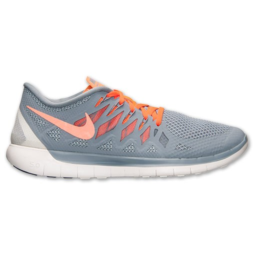 Nike Free 5.0 2014 642198 008 Magnet Grey/Hyper Crimson - Men's Running Shoes