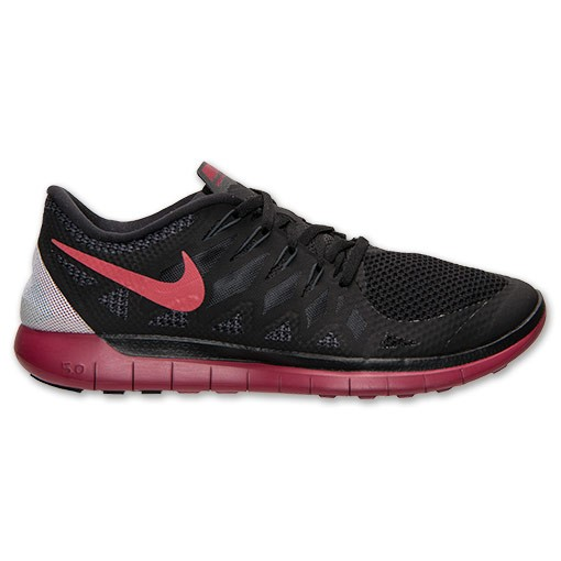 Nike Free 5.0 2014 642198 060 Black/Gym Red/Anthracite - Men's Running Shoes