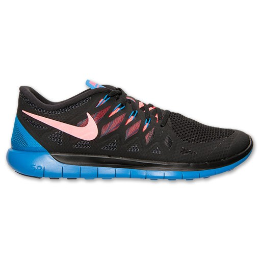 Nike Free 5.0 2014 642198 002 Black/Hyper Punch/Photo Blue - Men's Running Shoes