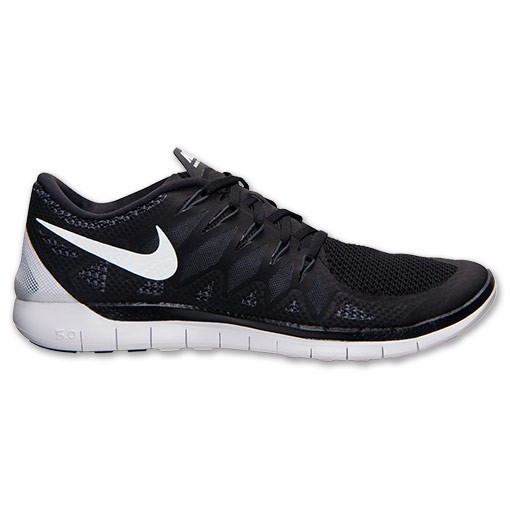 Nike Free 5.0 2014 642198 001 Black/White/Anthracite - Men's Running Shoes