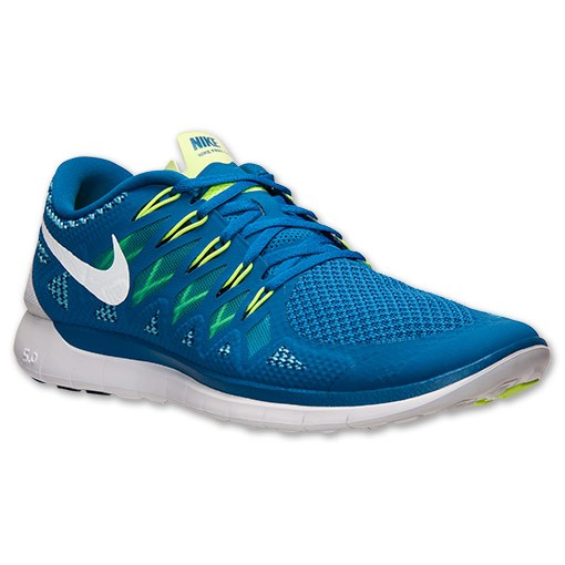 Nike Free 5.0 2014 642198 401 Military Blue/White/Polarized Blue - Men's Running Shoes