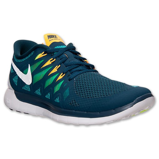 ... Nike Free 5.0 2014 642198 301 Nightshade/White/Tribe Green/Volt - Men's  ...