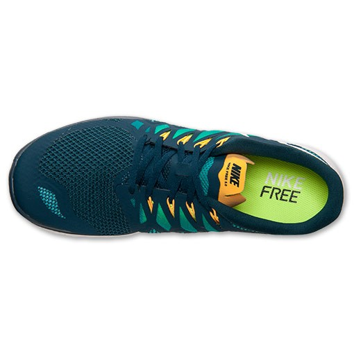 Nike Free 5.0 2014 642198 301 Nightshade/White/Tribe Green/Volt - Men's Running Shoes