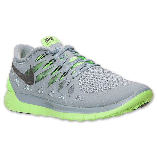 Nike Free 5.0 2014 642198 003 Magnet Grey/Black/Electric Green - Men's Running Shoes