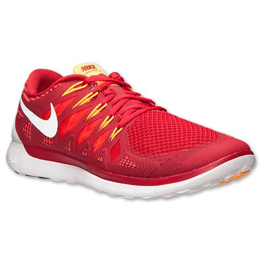 Nike Free 5.0 2014 642198 601 Gym Red/White/Light Crimson/Kumquat - Men's Running Shoes