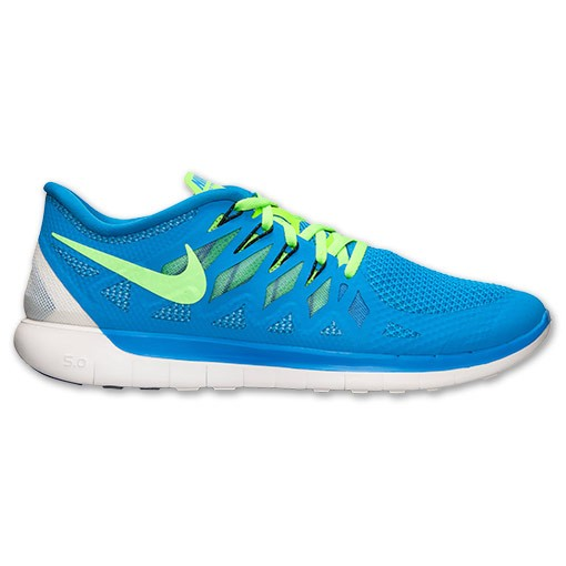 Nike Free 5.0 2014 642198 405 Photo Blue/Electric Green - Men's Running Shoes