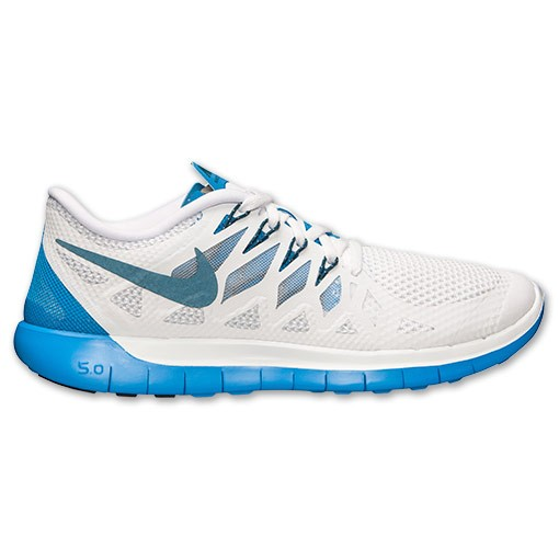 Nike Free 5.0 2014 642198 142 White/Space Blue/Photo Blue - Men's Running Shoes