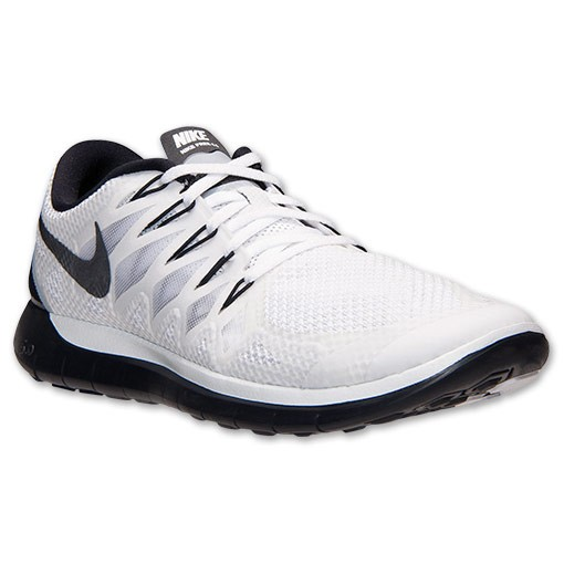 Nike Free 5.0 2014 642198 100 White/Black/Pure Platinum - Men's Running Shoes