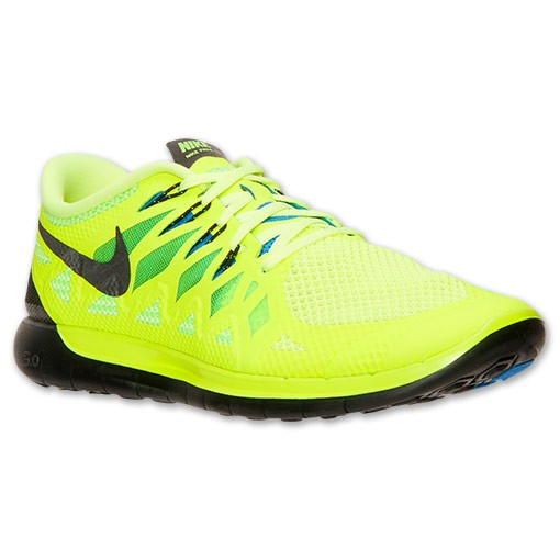 Nike Free 5.0 2014 642198 701 Volt/Black/Electric Green/Photo Blue - Men's Running Shoes