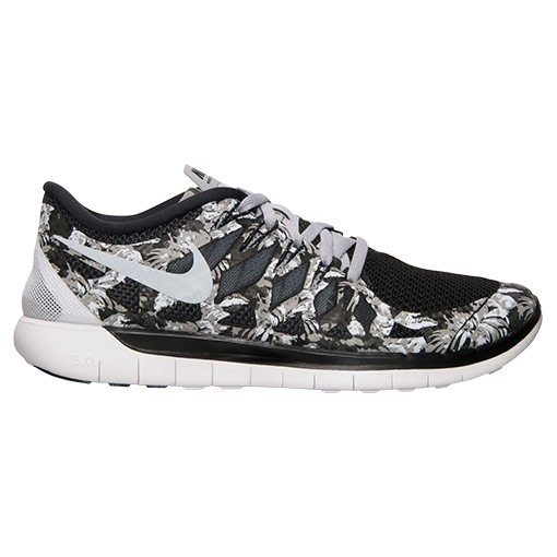 Nike Free 5.0 2014 Print Palm Trees 705286 011 Black/Wolf Grey/White - Men's Running Shoes