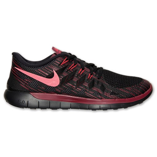 Nike Free 5.0 2014 Premium 707552 060 Black/Team Red/Action Red - Men's Running Shoes