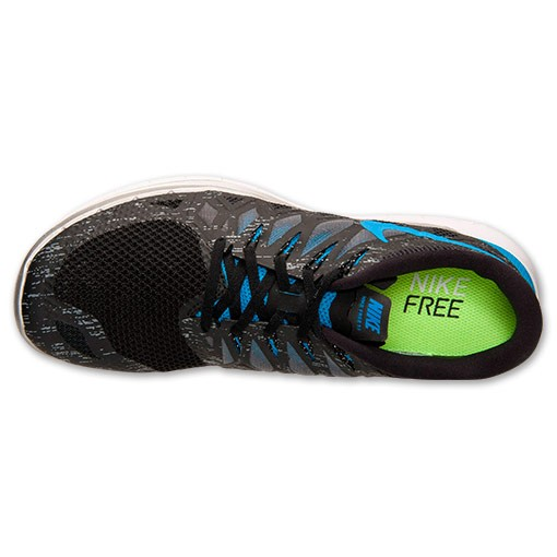 Nike Free 5.0 2014 Premium 705284 041 Black/Cool Grey/Reflect Silver/Hyper Blue - Men's Running Shoes