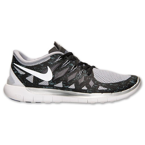 Nike Free 5.0 2014 Premium 705284 020 Black/Dark Grey/Metallic Silver - Men's Running Shoes