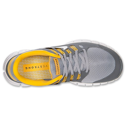 Nike Free 5.0+ Livestrong 579745 007 Wolf Grey/White/Cool Grey/Varsity Maize - Men's Running Shoes