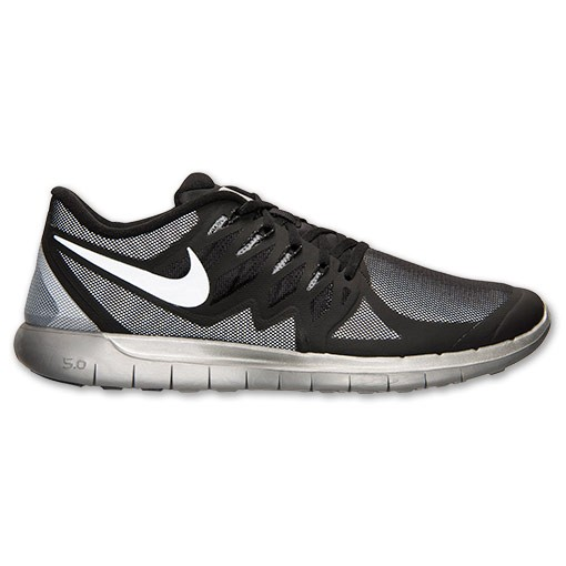 Nike Free 5.0 Flash 685168 001 Black/Reflect Silver/Wolf Grey - Men's Running Shoes