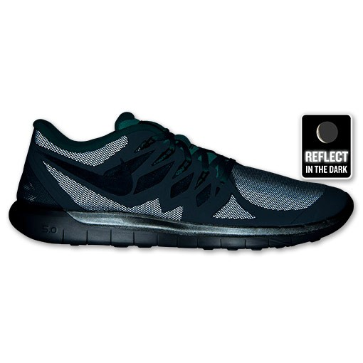 Nike Free 5.0 Flash 85168 003 Reflect Silver/Black/Hyper Jade/Grey - Men's Running Shoes