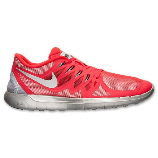 Nike Free 5.0 Flash 685168 600 Action Red/Black/Reflect Silver - Men's Running Shoes