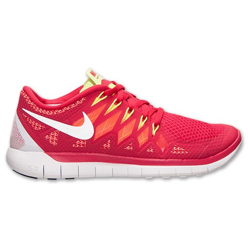 Nike WMNS Free 5.0 2014 642199 601 Legion Red/White/Laser Crimson/Mango - Women's Running Sneakers