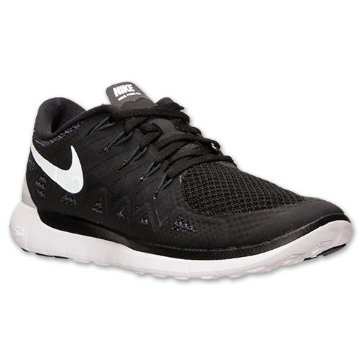 Nike WMNS Free 5.0 2014 642199 001 Black/White/Anthracite Womens Running Shoe