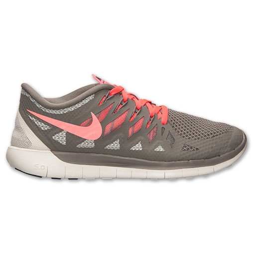 Nike WMNS Free 5.0 2014 642199 200 Light Ash/Hyper Punch/Wolf Grey Womens Running Shoe