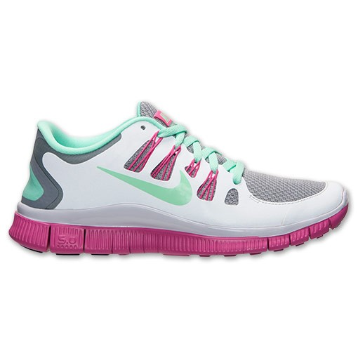 Nike WMNS Free 5.0 Reflective 633567 036 Stealth/Green Glow/Pure Platinum Womens Running Shoe