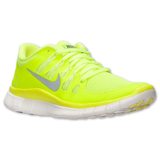 Nike WMNS Free 5.0+ 580591 701 Volt/Medium Base Grey/Summit White Womens Running Shoe