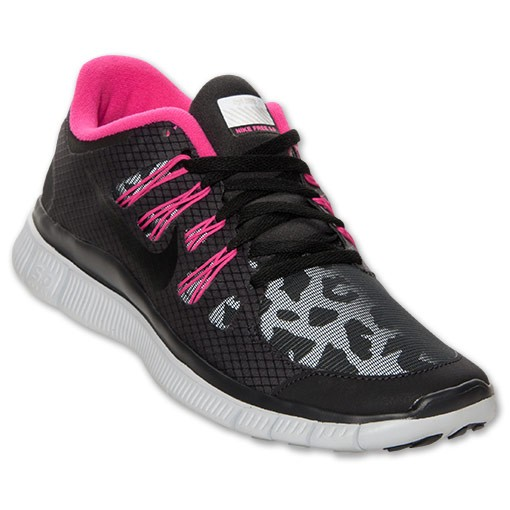 Nike WMNS Free 5.0 Shield Leopard Print 615987 006 Black/Pink - Women's Running Sneakers