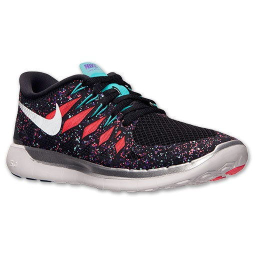 Nike WMNS Free 5.0 2014 Premium 705346 035 Black/Hyper Jade/Hyper Grape Womens Running Shoe