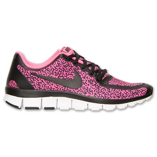 Nike WMNS Free 5.0 V4 Speckled 511281 018 Black/Hyper Pink Womens Running Shoe