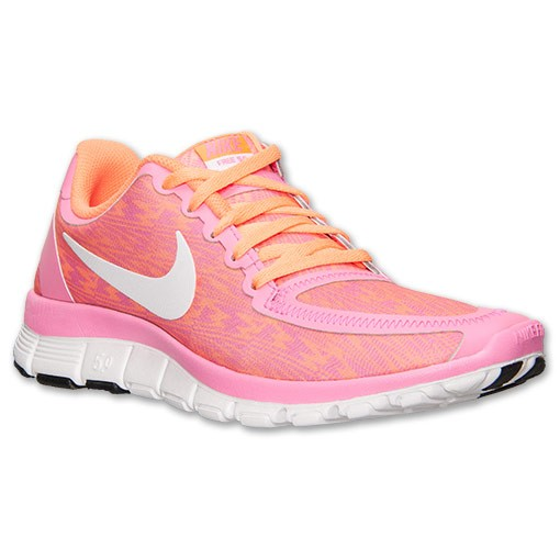 Nike WMNS Free 5.0 V4 511281 618 Pink Glow/White/Atomic Orange Womens Running Shoe