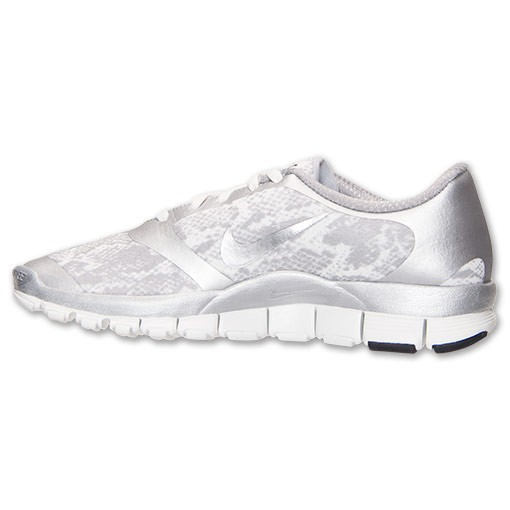 Nike WMNS Free 5.0 V4 Snakeskin Print 695168 002 Metallic Silver/Summit White Womens Running Shoe