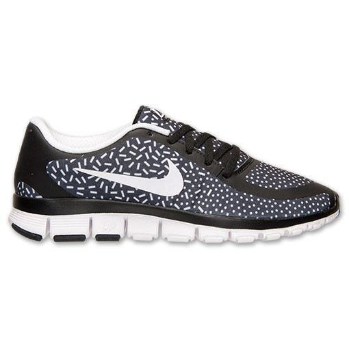 Nike WMNS Free 5.0 V4 Print 695168 021 Black/White Womens Running Shoe