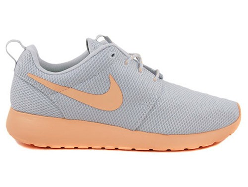 Nike WMNS Roshe Run 511882-008 Pure Platinum/Orange Chalk Womens Casual Shoes