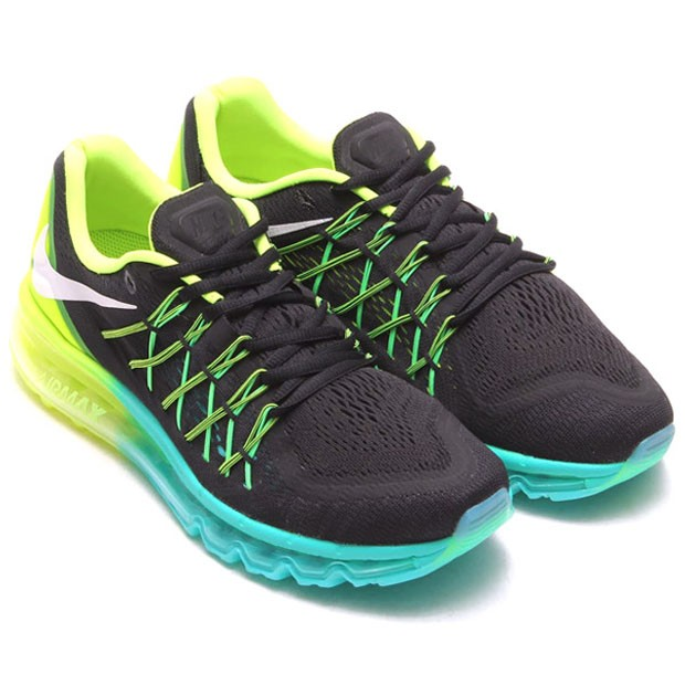 Nike Air Max 2015 698902-003 Black White Volt Hyper Jade Mens and Womens  Running