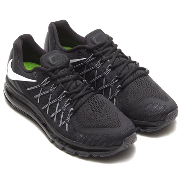 6755852941e285 Nike Air Max 2015 698902-003 Black White Mens and Womens Running Shoes