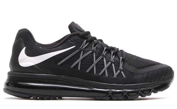 buy online 0e222 aea81 ... Nike Air Max 2015 698902-003 Black White Mens and Womens Running Shoes  ...