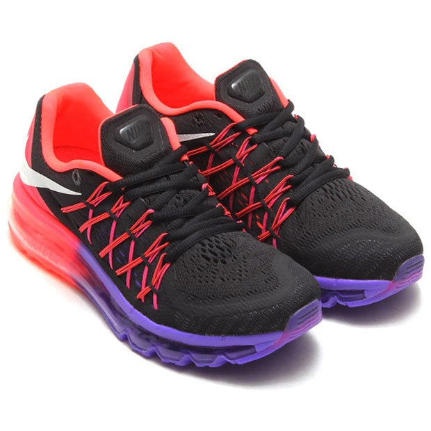 Nike WMNS Air Max 2015 366164 111 Black White Hyper Punch Violet Womens Running Shoes
