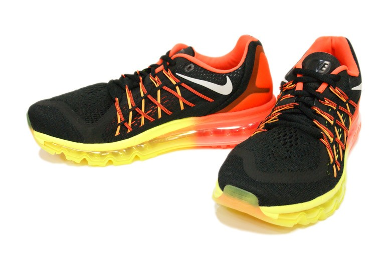Nike Air Max 2015 698902-004 Black White Hyper Crimson Volt Mens and Womens Running Shoes