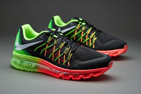 Nike WMNS Air Max 2015 366164 111 Black White Flash Lime Hyper Punch Womens Running Shoes