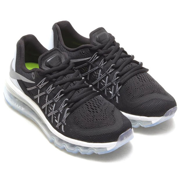 Nike WMNS Air Max 2015 366164 111 Black Reflect Silver White Summit White Womens Running Shoes