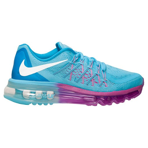 Nike Air Max 2015 705458 400 Clearwater White Blue Fuschia Flash Girls Running Shoes
