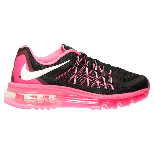 Nike Air Max 2015 705458 002 Black White Pink Pow Metallic Girls Running Shoes