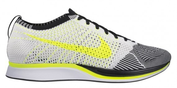 Nike WMNS Flyknit Racer 526628-170 Sail White/Volt Yellow-Black Womens Running Shoes