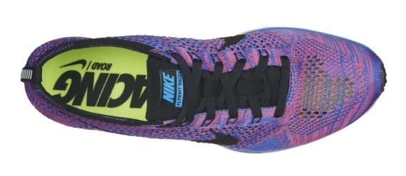 Nike Flyknit Racer Multicolor 526628-400 Game Royal/Black-Pink Flash Men's Running Shoes