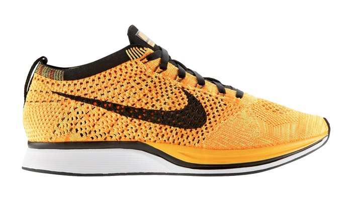 Nike Flyknit Racer Team Orange/Black Men's Running Shoes