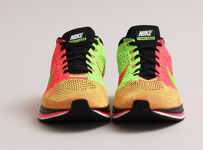cca4c590d15d7 ... coupon for nike flyknit racer 526628 603 hyper punch black electric  green mens running shoes ff408
