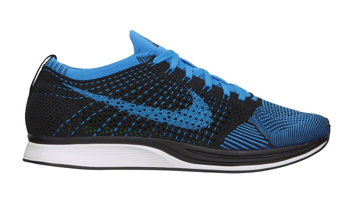 buy popular d1863 35302 nike flyknit racer mens blue