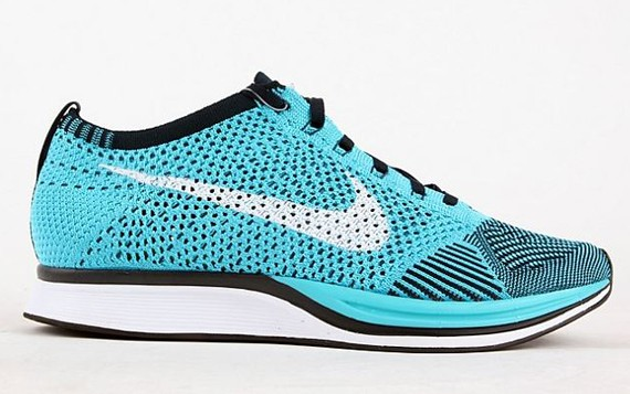 Nike Flyknit Racer Turquoise Men's Running Shoes