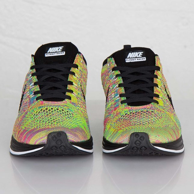 new style 7eb16 3ccdc womens nike flyknit racer pink green
